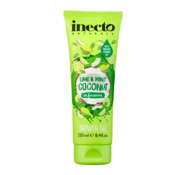 Гель для душу Lime and Mint Coconut Inecto Naturals